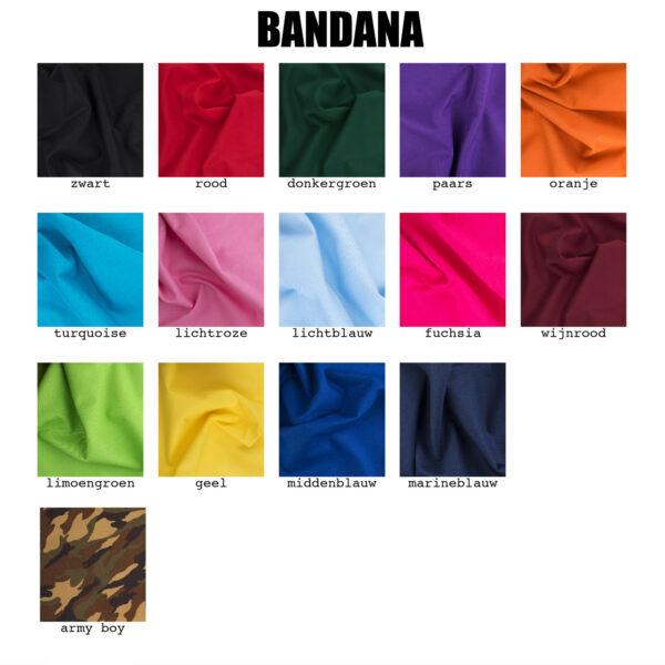 kleur bandana, gepersonaliseerde bandana, bedrukking bandana, hond