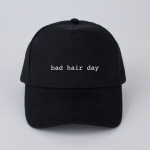 pet, bad hair day, zwart