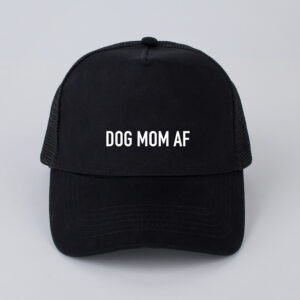 dog mom af, pet, zwart