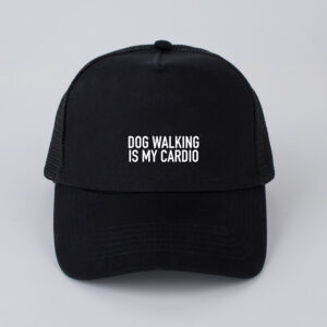 dog walking is my cardio, pet, zwart