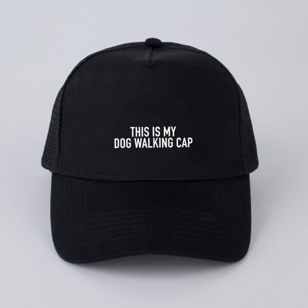 pet, this is my dog walking cap, zwart