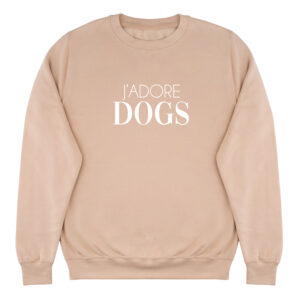 dog mom, sweater, j'adore dogs