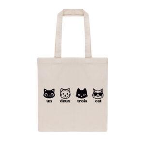 un deux trois cat, cat mom, cat dad, tote bag