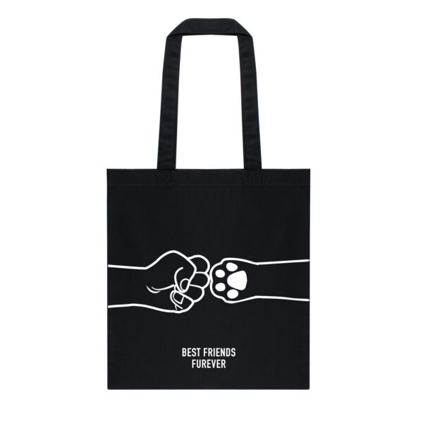 tote bag, dog mom, cat mom, best friends furever