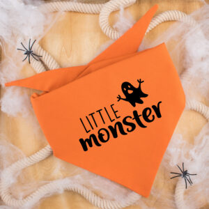 bandana, hond, halloween, little monster