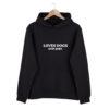 hoodie, loves dogs, avoids people