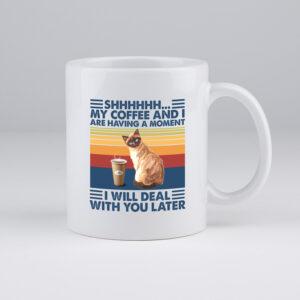 koffietas, katten, ochtenhumeur