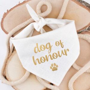 bandana, hond, huwelijk, aankondiging, dog of honour, trouw, hondenbandana