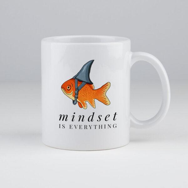 mindset is everything, koffie, koffiemok, koffietas, leuke koffietas, grappig, motivatie