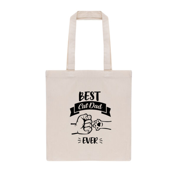 best cat dad ever, cat dad, cadeau, gift, totebag