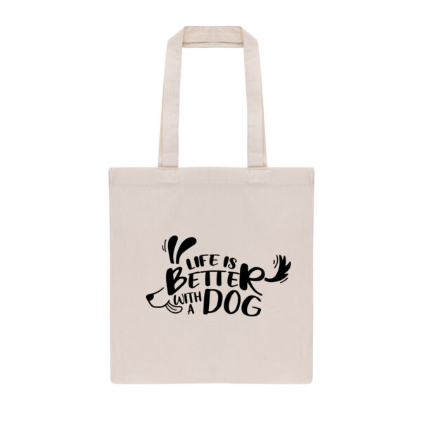 totebag, tas, life is better with a dog, cadeau dog mom