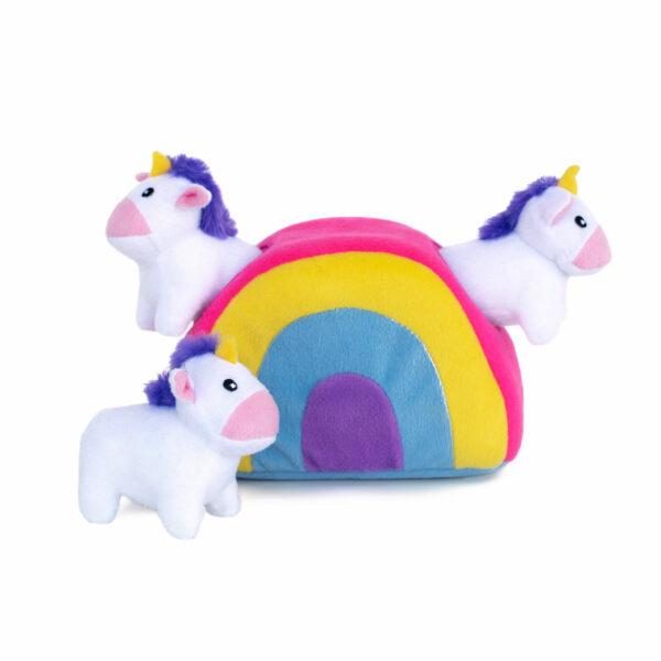 hondenspeelgoed, speeltje hond, leuk, grappig, zippypaws, speelgoed voor honden, unicorn