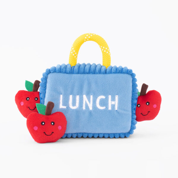 zippypaws, hondenspeelgoed, lunchbox met appels