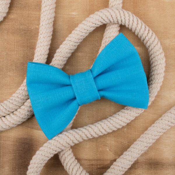 hondenstrikje, linnen, blauw