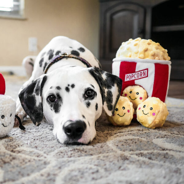 popcorn, hondenspeelgoed, speeltje, hond, zippypaws