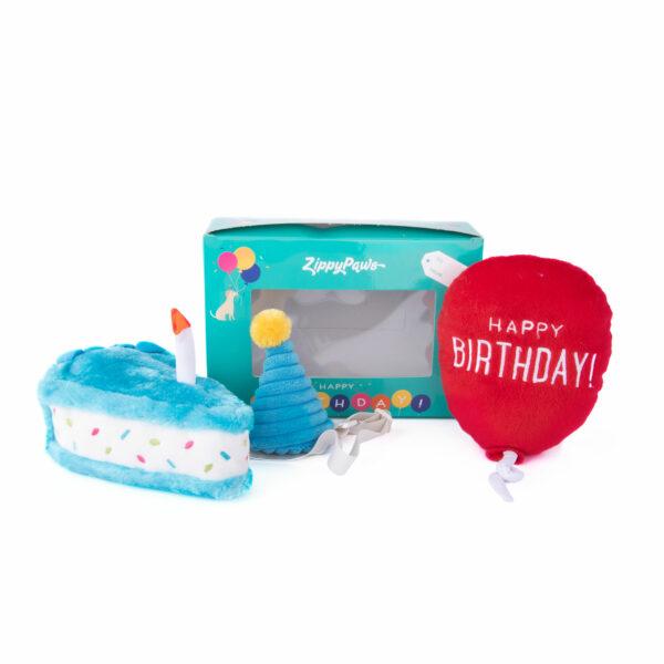 verjaardag, hond, birthday, verjaardagstaart, speelgoed, zippypaws