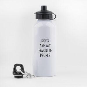 dogs are my favorite people, drinkfles, waterfles, leuk, grappig, hondenwandeling, sporten