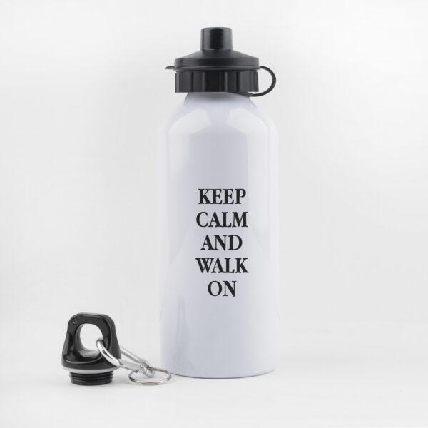 keep calm and drink on, drinkfles, waterfles, leuk, grappig, hondenwandeling, sporten