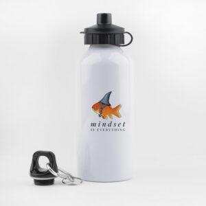 mindset is everything, drinkfles, waterfles, leuk, grappig, hondenwandeling, sporten