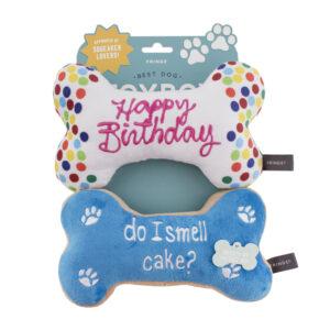 verjaardag, hond, hondenspeelgoed, speelgoed hond, happy birthday, feestje hond