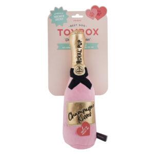 champagne, hond, verjaardag, rosé champagne, hondenspeelgoed, speeltje hond