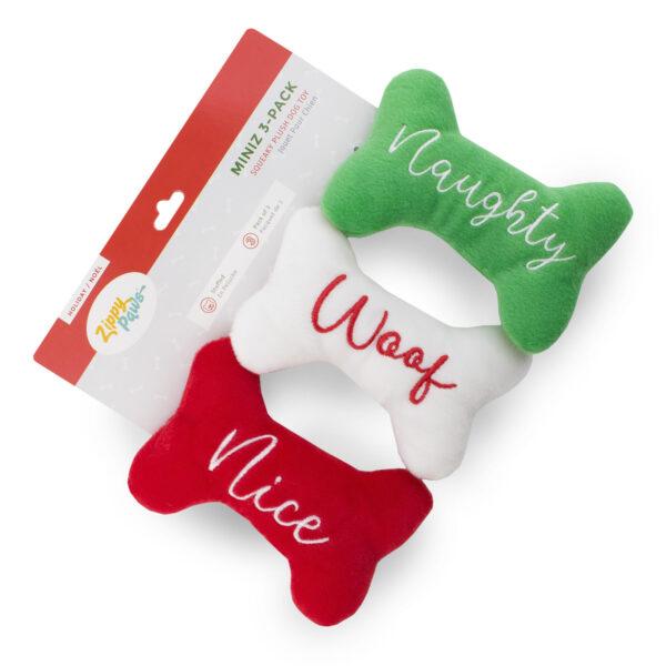 speelgoed, hond, kerstmis, nice woof naughty