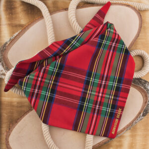 bandana, hond, hondenbandana, sjaal hond, accessoire hond, ruitjes, monsieur beaux, rood, tartan