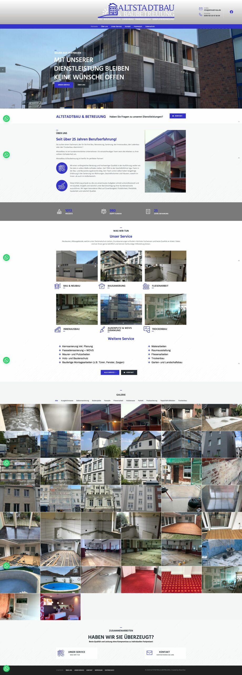 Webseite von Altstadtbau