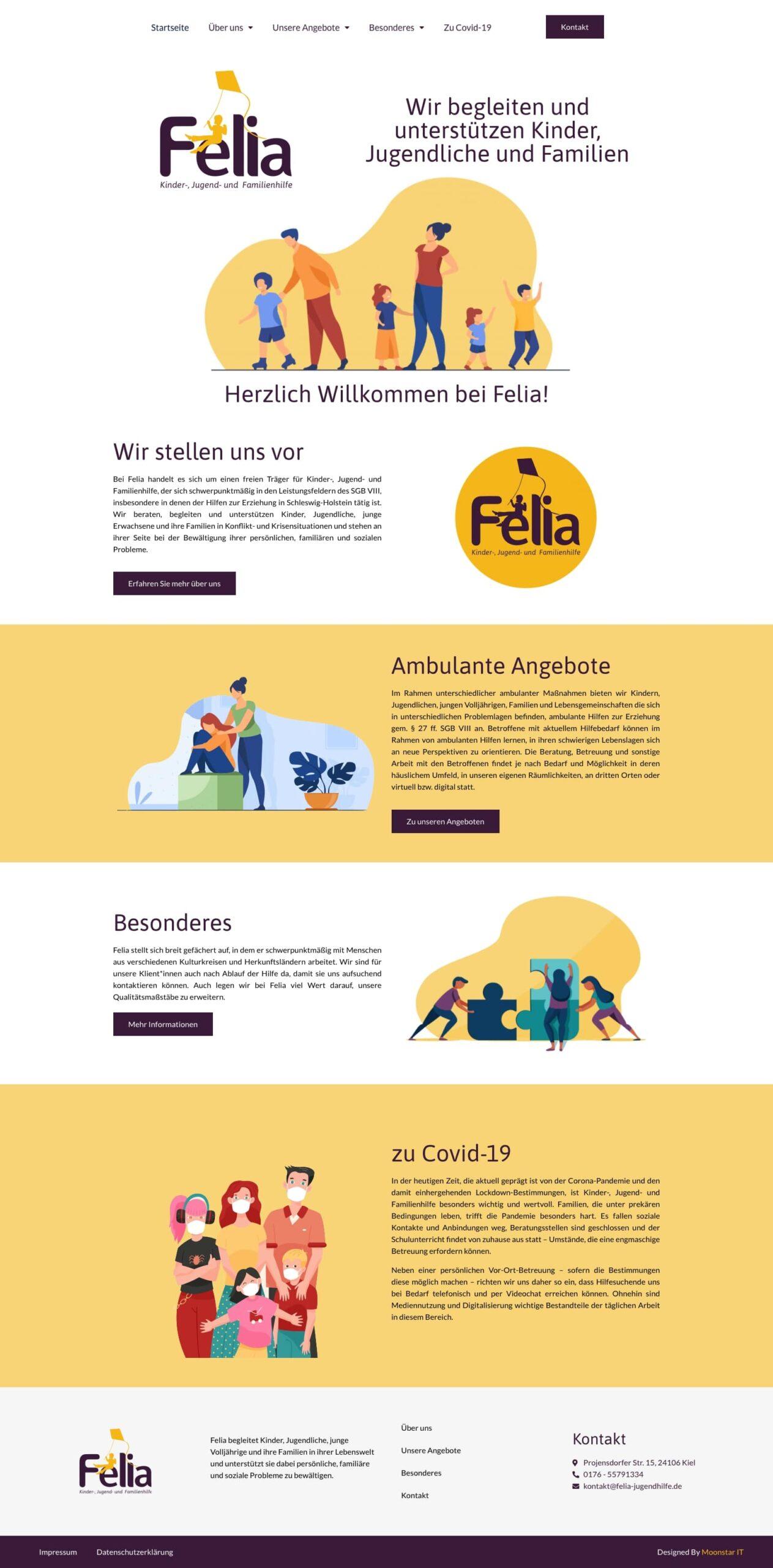 Webseite von Felia-Jugendhilfe