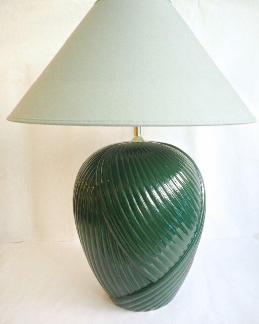 Grøn vintage lampe