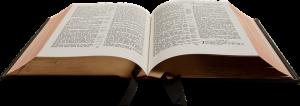 En bild på en uppslagen bibel