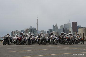 MotoForPeace con Polizia del trafico di Toronto