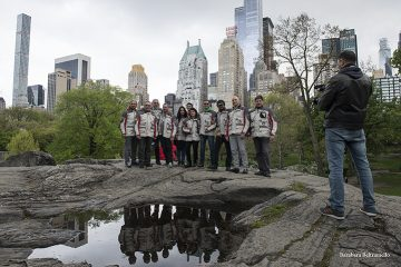 New York RAI World intervista MotoForpeace al Central Park