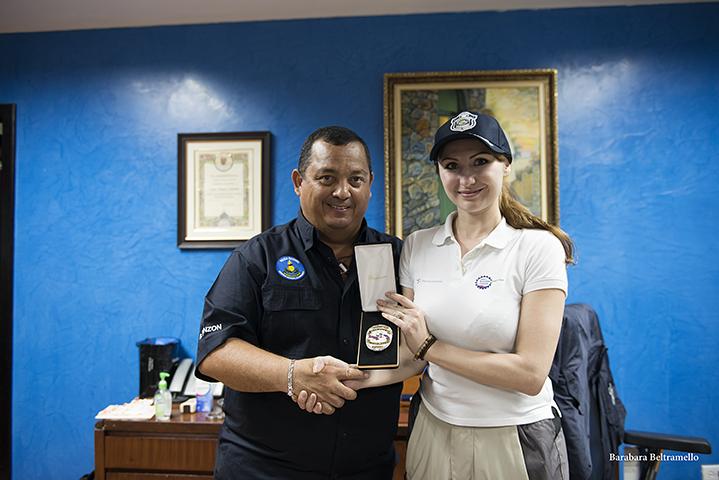 Panama capo Polizia e Nina di MotoForPeace