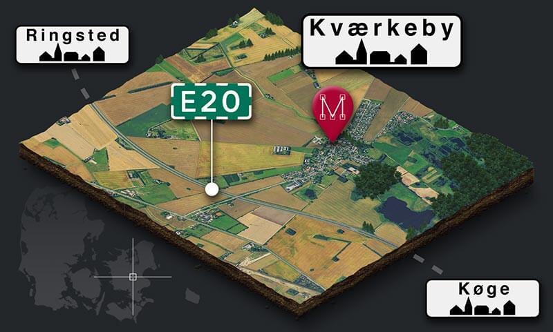 Kort over kværkeby