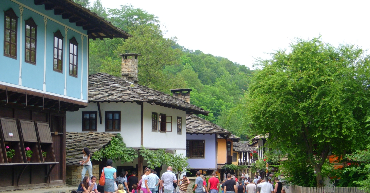 Traditional houses in Bulgaria