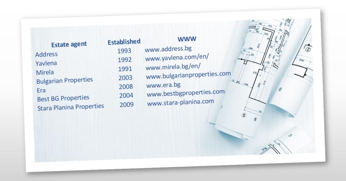List of Bulgarian Estate Agents