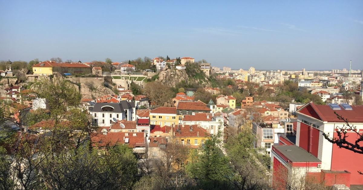 Plovdiv city view