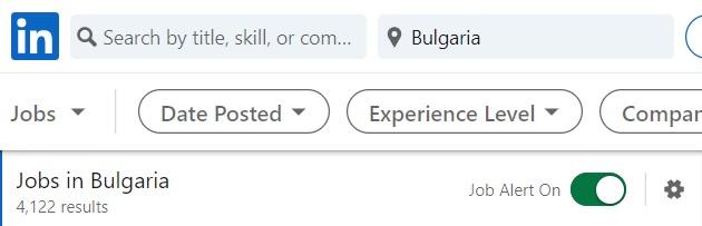 Bulgaria Job Alert