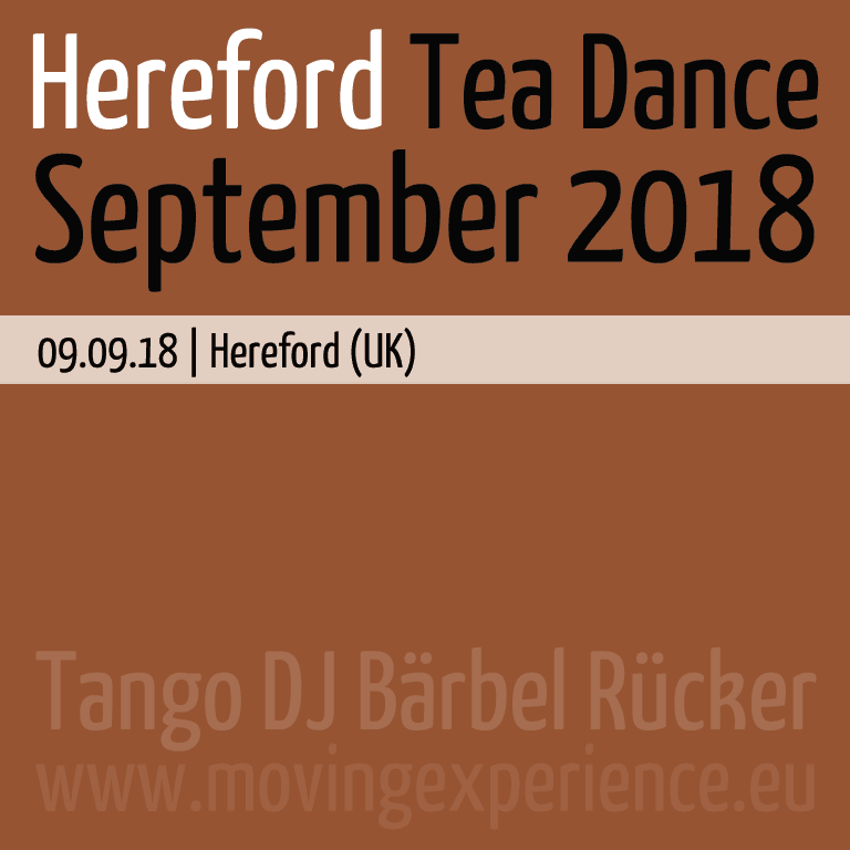 September 2018, Hereford Tea Dance with Tango DJ Bärbel Rücker