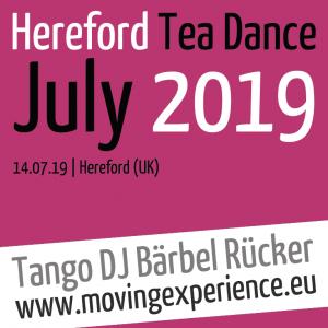 Hereford Tango Tea Dance with Tango DJ Bärbel Rücker