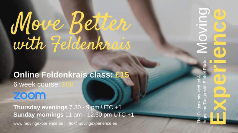 Feldenkrais Online Classes with Bärbel