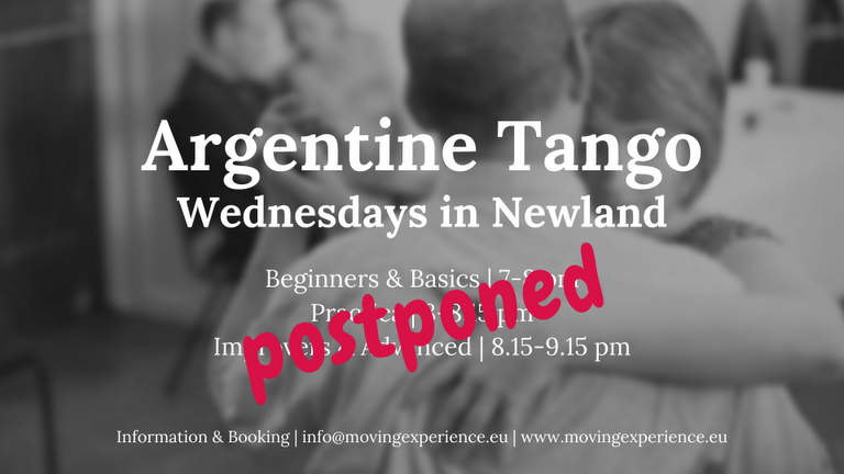 Postponed Tango classes in Newland