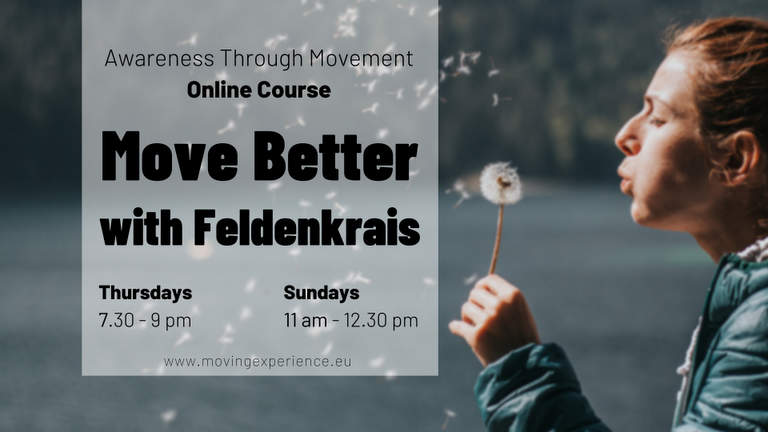 Move better with Feldenkrais Online Classes with Bärbel