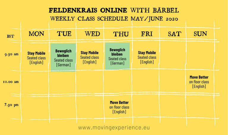 Weekly Online Classes
