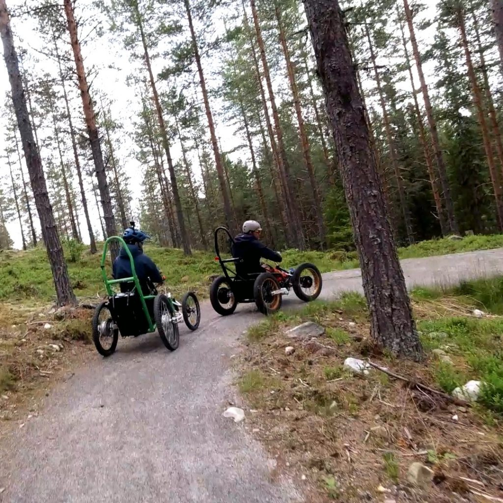Trytetrøkket mountain bike adapt