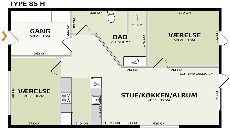 indretningsplan græsgangen 85Hv2