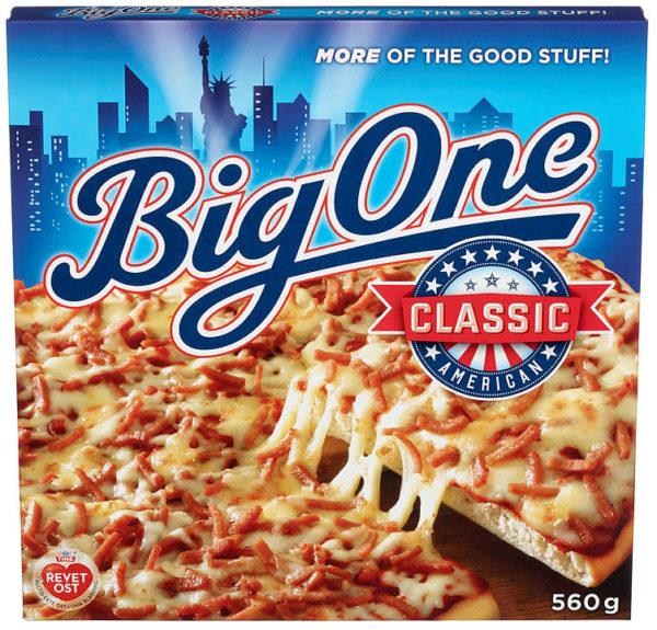 TILBUD: PIZZA BIG ONE AMERICAN CLASSIC 560G