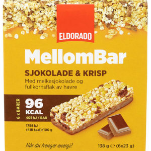 MELLOMBAR SJOKOLADE&KRISP 138G ELDORADO