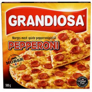 TILBUD: PIZZA GRANDIOSA PEPPERONI